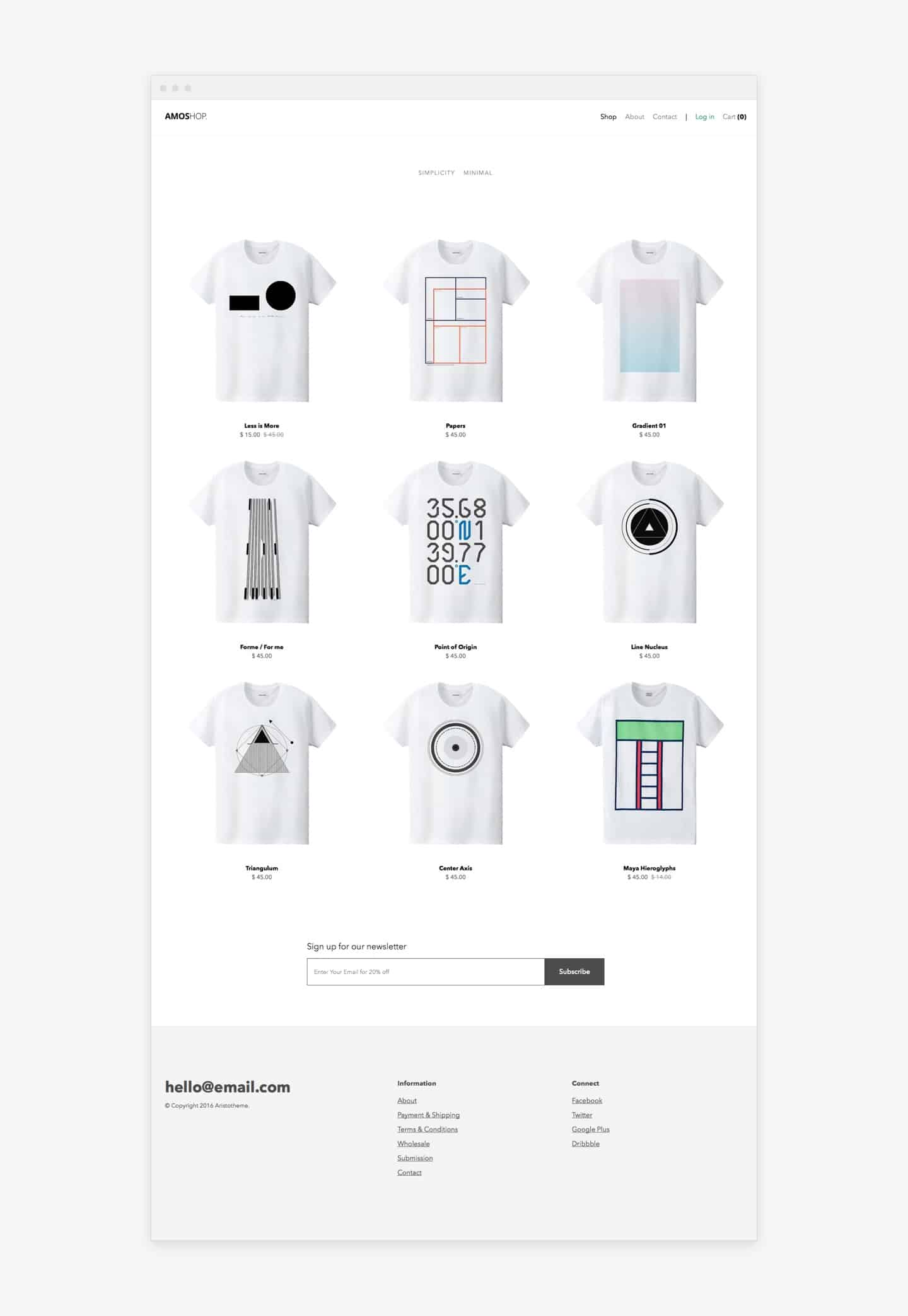 Amoshop E-Commerce Theme for Kirby CMS