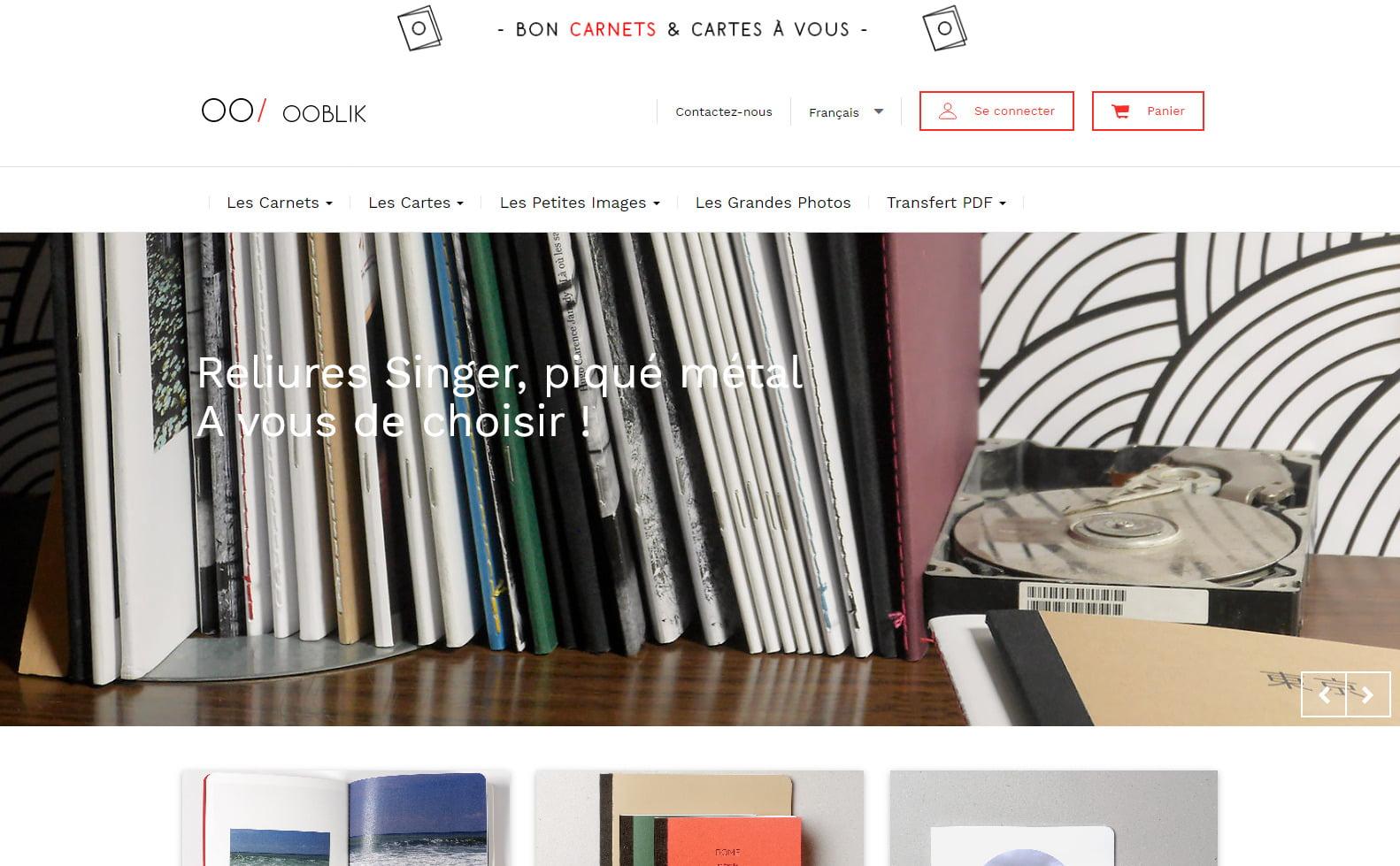 PRINT-OOBLIK.FR un éditeur en ligne pour créer vos Carnets, vos Cartes postales et vos Petites images!