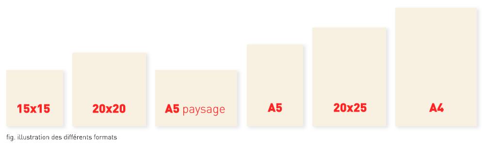 nos 6 formats de carnets