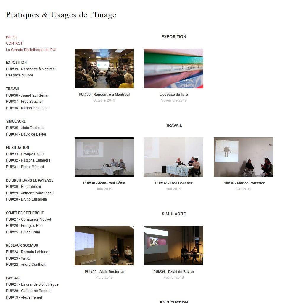 Pratiques & Usages de l'Image (PUI)