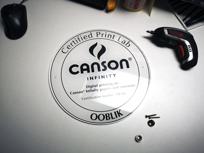 notre ancienne plaque de Canson Certified Print Lab